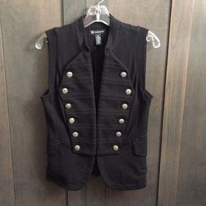 INC Black Double Breasted Looking Vest